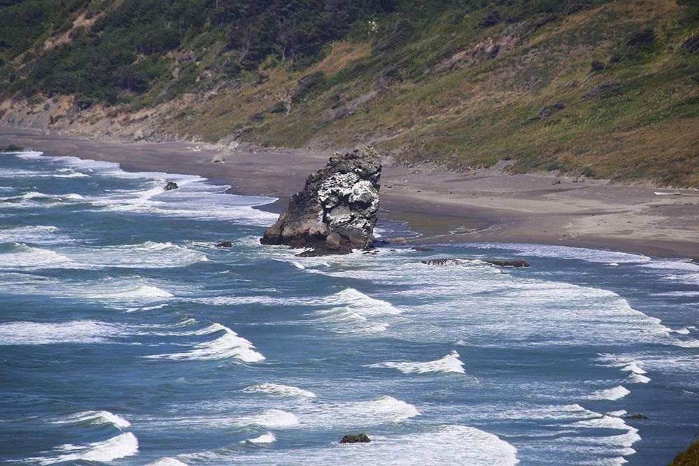 Rocky ocean coast