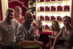Inside Teatro San Carlo, Naples